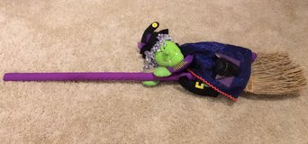 Halloween Witch on Her Broom in Kankakee, Illinois