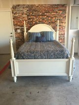 "Bassett Queen size bed refinished in Annie Sloan Chalk Paint"" Old White"". Waxed in Annie Sloan C... in Colorado Springs, Colorado"