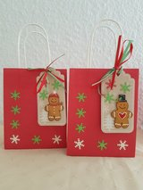 SALE -  Small 4 × 5.25 in. Christmas Favor Bags Handmade 3 Available in Ramstein, Germany
