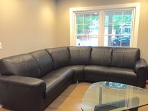 Leather Couch Sectional in Bartlett, Illinois