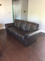 Ashley Brown Leather Couch and Loveseat in Camp Lejeune, North Carolina