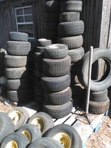 LAWN mower tires and rims $15 each have ALL sizes and kinds in Perry, Georgia