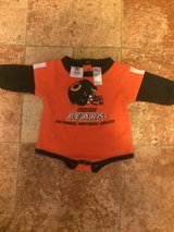 Cute Chicago Bears Long Sleeve Onsie size 6-9 m in Naperville, Illinois