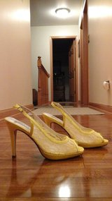 Brand NEW Yellow Lace Bridal shoes! in Yorkville, Illinois