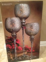 Kirklands set of 3 snowflake candle holders in Conroe, Texas