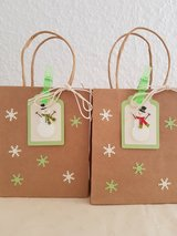 """"""" SALE"""" Small Snowman Gift - Favor Bags 4.5 x 5.5 Handmade 5 Available in Ramstein, Germany"""