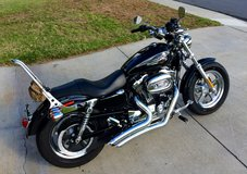2014 Harley Davidson Sportster XL 1200 Custom with Vines Hines Big Radius 2 into 2 Exhaust in Kaneohe Bay, Hawaii