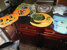 "Halloween vintge cut out's for wall from 1960"" 1985 Beistle company CARD BOARD in Algonquin, Illinois"