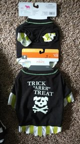 Dog Tshirt Costume Halloween Trick treat Skull Bones BRAND NEW Small and Xsmall in Lockport, Illinois