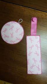 Breast Cancer Book Marks & Matching Coasters in Joliet, Illinois