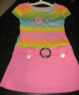Girls 4T Peace Love Hippie 60's Go-Go Girl Costume Dress Pastel Rainbow Piper Brand in Kingwood, Texas