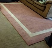 AREA RUG/CARPET 6×9 PINK AND WHITE FOR $85 in Camp Lejeune, North Carolina
