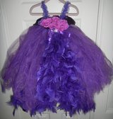 GORGEOUS Purple Feather TuTu Dress Princess Toddler Girls 2T / 3T Pageant Costume in Kingwood, Texas