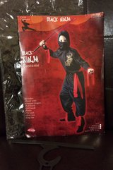 Youth Black Ninja Costume, sz 8-10 in Fort Campbell, Kentucky