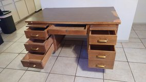 wooden desk in Alamogordo, New Mexico