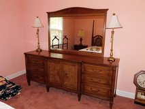 SOLID WOOD DRESSER AND MIRROR in Perry, Georgia