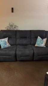 Sleeper Sofa and Dual Recliner with cup holder in Greensboro, North Carolina