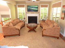 Two beautiful curved sofas in Fairfax, Virginia