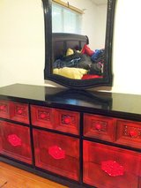CHINESE DRESSER W/MIRROR in Baytown, Texas