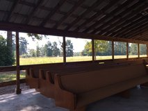 FREE - 9 CHURCH PEWS over 13 feet long.  Need to be gone by Sat. Oct 15.  Must take all, have a ... in The Woodlands, Texas