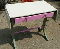 Vintage Painted Desk or Table with Drawer Glass Knobs! Shabby Chic in Morris, Illinois