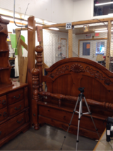 Gorgeous solid wood dresser/mirror/ headboard in Pensacola, Florida
