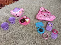 Fisher price laugh n learn purse and tea set in Houston, Texas