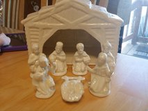 Ceramic nativity scene in Batavia, Illinois