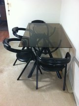 Glass Dining Table W/ 4 Chairs in Batavia, Illinois
