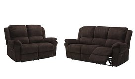 NEW SOFA AND LOVE SEAT RECLINER SET in Fort Irwin, California
