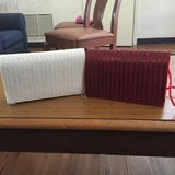 Red purse and white purse in Los Angeles, California