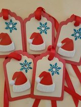 SALE - Handmade 10 Christmas Tags  1.75 x 2.75 in. in Ramstein, Germany