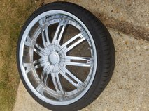New rims and tires set of 4 in Fort Rucker, Alabama