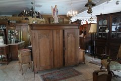 one of a kind 200 year old tiger oak armoire with organ doors in Ramstein, Germany