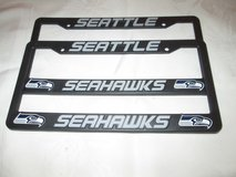 SEATTLE SEAHAWKS EMBOSSED LICENSE PLATE FRAME(S) *** NEW *** 2 FOR $25 in Fort Lewis, Washington