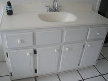 white 4 ft vanity and sink in Beaufort, South Carolina
