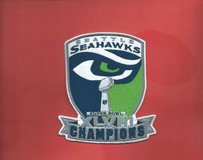 "SEATTLE SEAHAWKS XLVIII CHAMPIONS IRON ON PATCH (4""X5"") *** NEW*** in Tacoma, Washington"