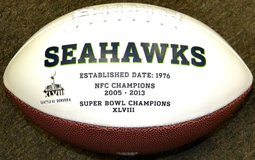 Seattle Seahawks - XLVIII Rawlings Full Size Engraved  NFL Football *** NEW *** in Tacoma, Washington