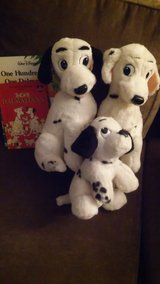 101 Dalmations (3) plush dogs with books in Bartlett, Illinois