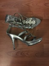 Silver heels New, Never Worn in Camp Pendleton, California