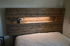 Custom-made QUEEN headboard in Fort Lewis, Washington