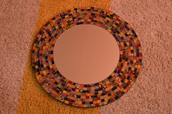 Mosaic glass mirror in Fort Lewis, Washington