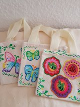6 Small Canvas Bags Handmade in Ramstein, Germany