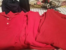 Six red polos/t-shirts in Fort Bragg, North Carolina