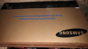 """Samsung DM75D 75"""" LED TV Display - Damaged for repair or parts in Naperville, Illinois"""