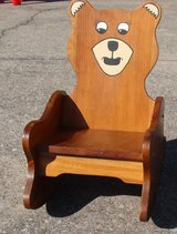 Childs Wood Rocking Chair Teddy Bear in Fort Campbell, Kentucky