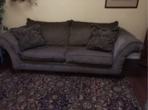 Living room set couch loveseat chair ottoman in Colorado Springs, Colorado