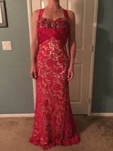 Size 6 red/gold formal gown in Temecula, California