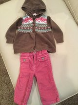 Sonoma sweater & pant set...size 6-9 months in Naperville, Illinois
