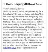 Violet's Cleaning Service in Yucca Valley, California